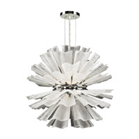 PLC Lighting Enigma Chandelier in Polished Chrome with Frost Glass 82333-PC