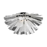 Enigma 6 Light 32 inch Polished Chrome Flush Mount Ceiling Light