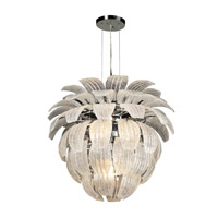 PLC Lighting Charisma Chandelier in Polished Chrome with Frost Glass 82355-PC