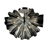 PLC Lighting Orbiter Flush Mount in Polished Chrome with Clear Glass 82367-PC