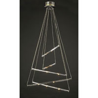 PLC Lighting DNA-I Chandelier in Polished Chrome with Clear Glass 83102-PC