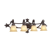 PLC Lighting Polaris 4 Light Vanity Light in Red Rust 83334