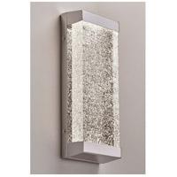 PLC Lighting 84440PC Giaccio LED 6 inch Polished Chrome ADA Wall Sconce Wall Light