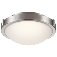 Corso LED 13 inch Satin Nickel Flush Mount Ceiling Light, Medium