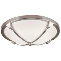 PLC Lighting 84457SN Adivina LED 16 inch Satin Nickel Flush Mount Ceiling Light Large