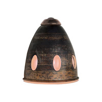 PLC Lighting Fantasia 1 Light Sconce in Copper and Peach Glass 865-PCH/COPPER