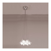 PLC Lighting Hydrogen Mini Pendant in Satin Nickel with Inner Matte Opal And Outer Clear Glass Glass 86614-SN