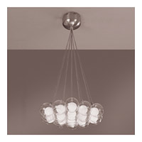 PLC Lighting Hydrogen Chandelier in Satin Nickel with Inner Matte Opal And Outer Clear Glass Glass 86620-SN