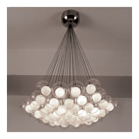 PLC Lighting Hydrogen Chandelier in Satin Nickel with Inner Matte Opal And Outer Clear Glass Glass 86625-SN