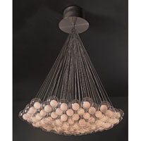 PLC Lighting Hydrogen Chandelier in Satin Nickel with Inner Matte Opal And Outer Clear Glass Glass 86628-SN