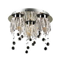 PLC Lighting Mirabelle 3 Light Flush Mount in Polished Chrome 87723-PC