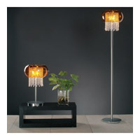 PLC Lighting Poem Table Lamp in Polished Chrome with Amber Glass 87730-PC