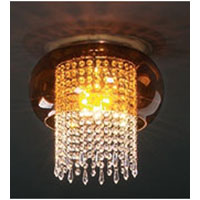 PLC Lighting Poem Flush Mount in Polished Chrome with Amber Glass 87738-PC photo thumbnail