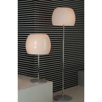 PLC Lighting Marlena Floor Lamp in Polished Chrome with Opal Glass 87745-PC photo thumbnail