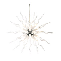 PLC Lighting Medusa Chandelier in Polished Chrome with Frost Glass 87775-PC