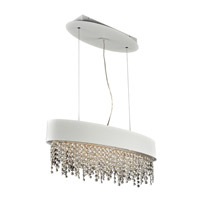 PLC Lighting Galoga 4 Light Pendant in White 87812WH