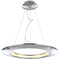 UFO LED 26 inch Polished Chrome Pendant Ceiling Light