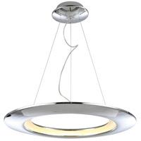 PLC Lighting 88805PC Ufo LED 26 inch Polished Chrome Pendant Ceiling Light