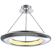 PLC Lighting 88808PC Ufo LED 26 inch Polished Chrome Pendant Ceiling Light