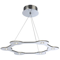 PLC Lighting 88822PC Starburst LED 25 inch Polished Chrome Pendant Ceiling Light