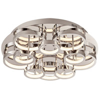 PLC Lighting 88835PC Lukko LED 18 inch Polished Chrome Flush Mount Ceiling Light
