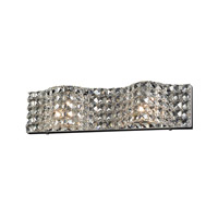 Wave 2 Light 19 inch Polished Chrome Bath Light Wall Light