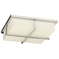 PLC Lighting 90056PC Tazza LED 13 inch Polished Chrome Vanity Light Wall Light Square
