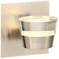 PLC Lighting 90061SN Sitra LED 5 inch Satin Nickel Vanity Light Wall Light
