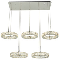Equis LED 48 inch Polished Chrome Pendant Ceiling Light