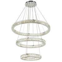 Equis LED 32 inch Polished Chrome Pendant Ceiling Light