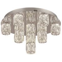 PLC Lighting 90100PC Miramar LED 18 inch Polished Chrome Flush Mount Ceiling Light