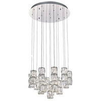 PLC Lighting 90103PC Miramar LED 20 inch Polished Chrome Pendant Ceiling Light