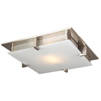 PLC Lighting 904SNLED Polipo LED 8 inch Satin Nickel Flush Mount Ceiling Light