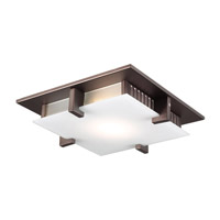 PLC Lighting Polipo Flush Mount in Oil Rubbed Bronze with Acid Frost Glass 904/CFL-ORB
