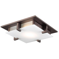 PLC Lighting 906ORBLED Polipo LED 12 inch Oil Rubbed Bronze Flush Mount Ceiling Light in Frost