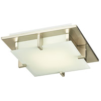 PLC Lighting 906SNLED Polipo LED 12 inch Satin Nickel Flush Mount Ceiling Light in Acid Frost