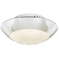 Rolland LED 11 inch Polished Chrome Semi-Flush Mount Ceiling Light
