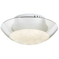 PLC Lighting 91102PC Rolland LED 11 inch Polished Chrome Semi-Flush Mount Ceiling Light