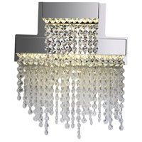 PLC Lighting 91134PC Camelot LED 13 inch Polished Chrome Pendant Ceiling Light