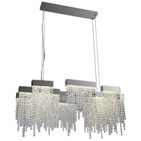 PLC Lighting 91136PC Camelot LED 34 inch Polished Chrome Pendant Ceiling Light