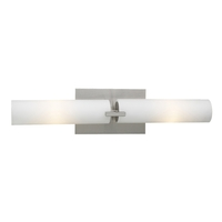 PLC Lighting Polipo 2 Light Bath Light in Satin Nickel 918/CFL-SN