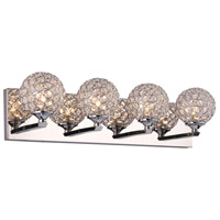 Alexa LED 22 inch Polished Chrome Vanity Light Wall Light