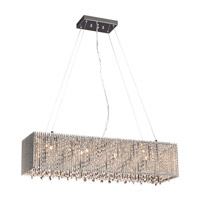 PLC Lighting Airiux 7 Light Pendant in Polished Chrome 92901PC