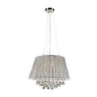 PLC Lighting Airiux 6 Light Pendant in Polished Chrome 92903PC