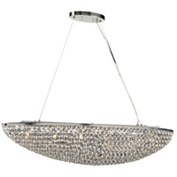 PLC Lighting 92916PC Alexa 6 Light 40 inch Polished Chrome Pendant Ceiling Light