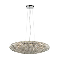 PLC Lighting Alexa 9 Light Pendant in Polished Chrome 92918PC