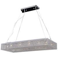 PLC Lighting 92919PC Alexa 12 Light 39 inch Polished Chrome Pendant Ceiling Light