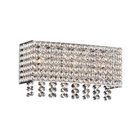 Alexa 3 Light 14 inch Polished Chrome Bath Light Wall Light