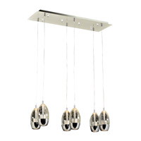 PLC Lighting Modo 6 Light Pendant in Polished Chrome 92946PC