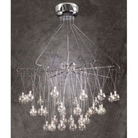 PLC Lighting Galaxia Flush Mount in Polished Chrome with Clear Glass 93929-PC photo thumbnail